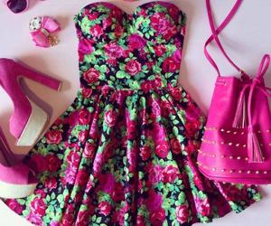 bag, shoes, and dress image