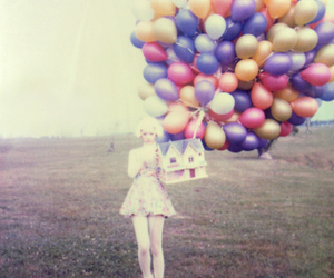 balloons and girl image