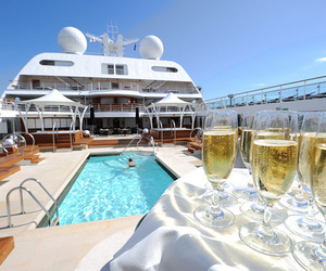 luxury, pool, and champagne image