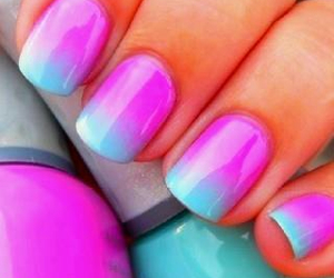 blue, cute, and nails image