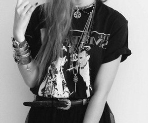 girl, grunge, and rock image