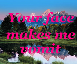 pink, face, and text image