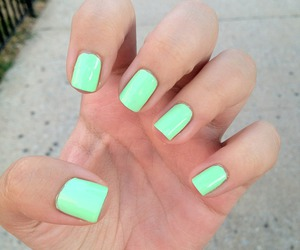 beauty, nails, and mint image
