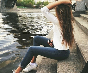 girl, hair, and outfit image