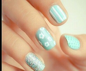 baby blue, minty, and stripes image