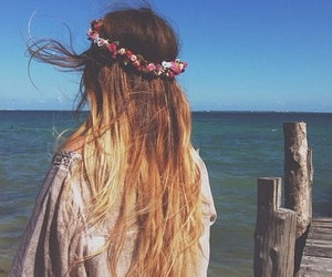 ombre, hair, and summer image