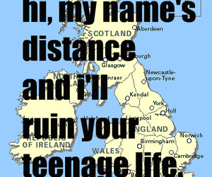 distance, life, and text image