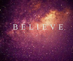 believe, galaxy, and stars image
