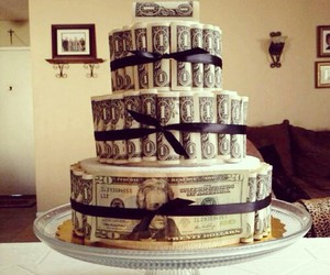 money, cake, and luxury image