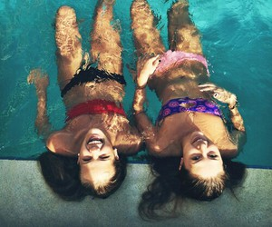 funny, sea, and sister image