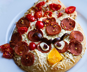 angry birds, pizza, and food image