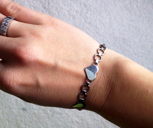 bracelet, cuff, and heart image