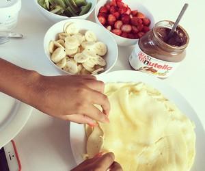 nutella, fruit, and pancakes image