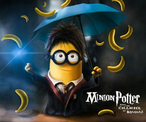minions, harry potter, and banana image