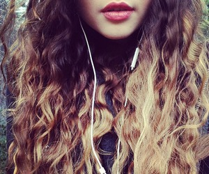 hair, lips, and curly image