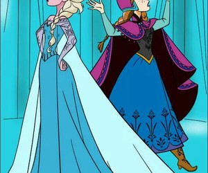 disney princess, frozen, and elsa and anna image