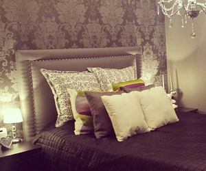 bed, deco, and decoration image