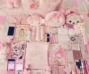 pink, kawaii, and girly image
