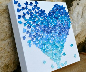 blue, butterfly, and creative image