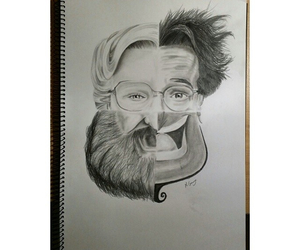 robin williams, art, and drawing image