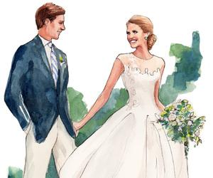 wedding, art, and dress image