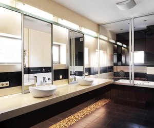 bathroom and mirrors image