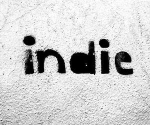 indie, black and white, and music image
