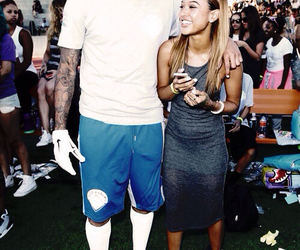chris brown, karrueche tran, and love image