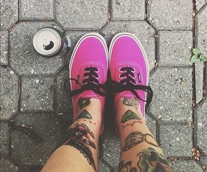 vans, tattoo, and pink image