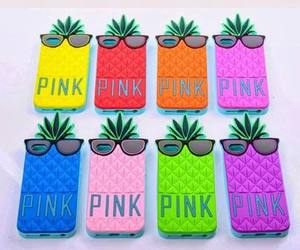 pink, iphone, and pineapple image