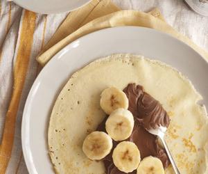 banana, food, and nutella image