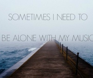 music, alone, and quote image