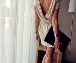 accessories, backless dress, and dress image