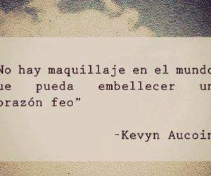 frases, maquillaje, and corazon image