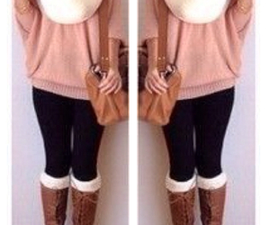 boots, fall, and leggings image