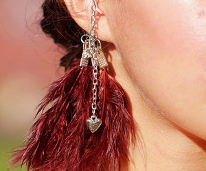 accessories, brunette, and earrings image