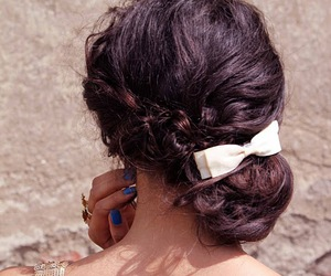 accessories, braid, and brunette image