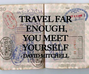 travel, quotes, and passport image