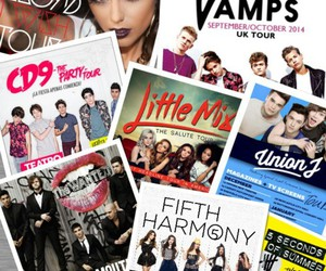 the wanted, cher lloyd, and the vamps image