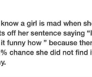 funny, mad, and girl image