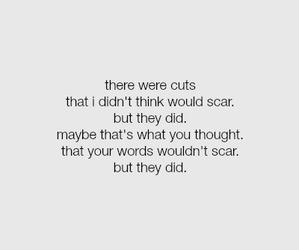 cutting, depression, and sad image