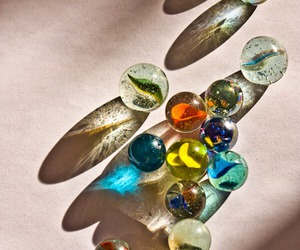 marbles and shadow image