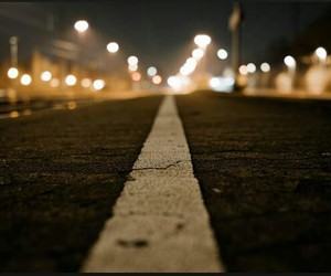 road, light, and street image