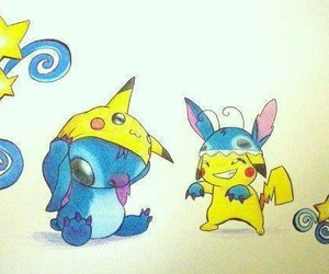 pikachu and stitch image