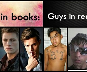 books, boys, and funny image