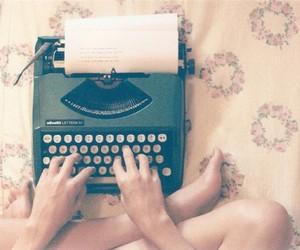 vintage, typewriter, and write image