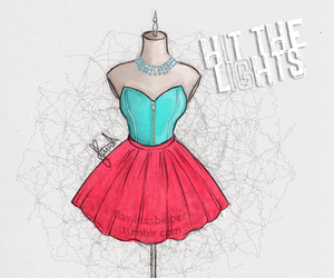 dress, selena gomez, and hit the lights image