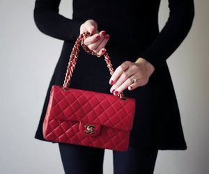 chanel, red, and fashion image