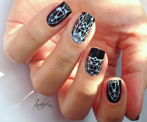 black and white, blogger, and nail art image