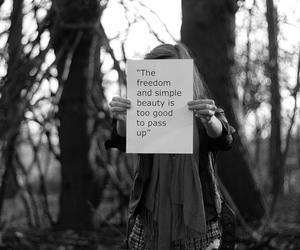 beauty, black and white, and freedom image